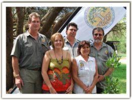 Naas Grové (Chairman), Diana Botha (Organiser), Gawie Oberholzer (Secretary), Theresia Oberholzer (Media) & Jaap Kroon (Treasurer)
